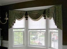 Bay Window Remodeling Ideas | Home Window Design 2011: Home Kitchen Bay  Window Treatment Ideas. Valance ...