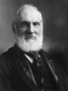 British physicist William Thomson, Lord Kelvin (1824-1907), proposer of the absolute (Kelvin) temperature scale, is associated with establishing the second law of thermodynamics. Educated at Glasgow and Cambridge, he published important papers on the conservation and dissipation of energy, made contributions to the field of fluid mechanics and directed work on the first successful trans-Atlantic cable telegraph in 1866, which brought him considerable wealth. This photo was taken around 1880.