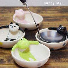 Amazon.co.jp: 【DECOLE/デコレ】concombre 温泉おたまホルダー CAT: ホーム&キッチン