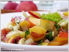 Variations Gourmandes: Salade estivale de nectarines au fenouil et jambon cru