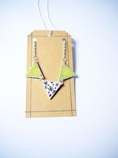 Bunting summer necklace shrink plastic  Floral and by Floralchic, $18.00
