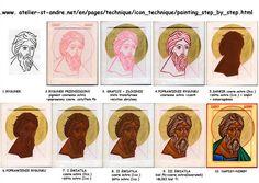 Writing Icon, Face Icon, Jesus Christus, Byzantine Icons, Russian Orthodox, Painting Process, Orthodox Icons, Christian Art, Painting Techniques