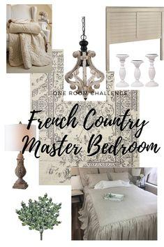 Master Bedroom Makeover Inspiration. Bedroom makeover. #oneroomchallenge #bhgorc One Room Challenge bedroom makeover
