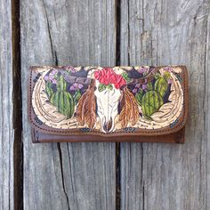 Gypsy Steer and Cactus Wallet by 76andRiveted on Etsy https://www.etsy.com/listing/290291231/gypsy-steer-and-cactus-wallet