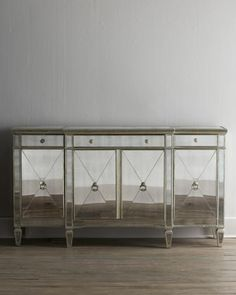 Horchow | More mirrored furniture here: http://mylusciouslife.com/pictures-of-mirrored-furniture-shopping-for-glamorous-decor/