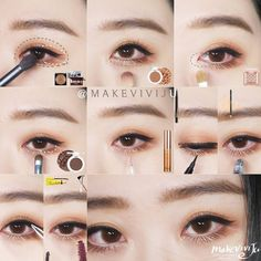 #Korea Eye Make Up #MakeUp #Akiwarinda