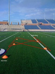 6 Cone Drill-Forward & Back Field Hockey Drills, Rugby Drills, Football Coaching Drills, Basketball Workouts, Rugby Training, Soccer Training Drills, Agility Training, Agility Workouts, Preparation Physique