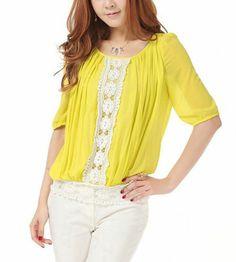 Lace Splice Fashion Shirt