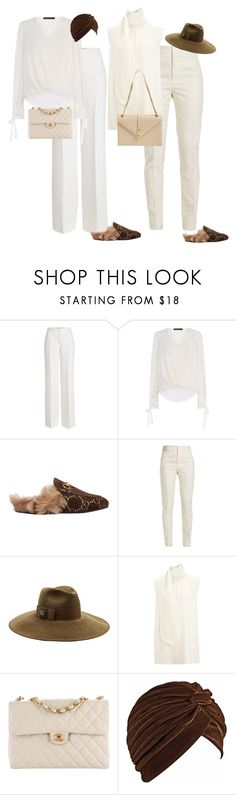 """Options!"" by cristalmichel ❤ liked on Polyvore featuring Agnona, Karen Millen, Gucci, Yves Saint Laurent, Joseph and Chanel"