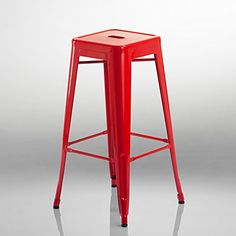 Duhome 584 tabouret de bar en métal / fer empilable ROUGE Bar Stools, Kitchen, Furniture, Home Decor, Industrial By Design, Bar Stool, Home Kitchens, Iron, White People