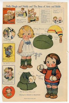 76.2948: Dolly Dingle and Neddy and the Story of Artie and Baldie | paper doll | Paper Dolls | Dolls | National Museum of Play Online Collections | The Strong