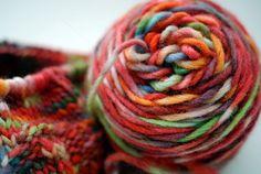 Dyeing yarn with Koolaid in a crockpot!