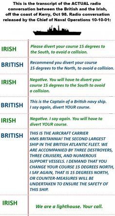 Irish vs British