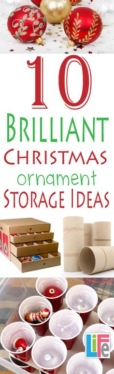 Storage hacks that are free, to long term solutions to buy, this is a great article on how to keep christmas ornaments organized.