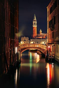 When The Lights Go Down in Venice, Venezia Venice Travel, Italy Travel, Places To Travel, Places To See, Places Around The World, Around The Worlds, Wonderful Places, Beautiful Places, Grand Canal