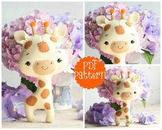 This PDF hand sewing pattern will give you instructions and patterns to make the cute giraffe pictured Size: 7 approximately. Language: English