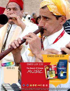 Kawan EMCO, kemeriahan Gnawa Music Festival tidak hanya diwarnai dengan ketiga warna dari alat musik khas Gnawa, tetapi berbagai paduan warna khas pakaian suku Gnawa juga mewarnai keseluruhan festival. Gunakan warna EMCO LUX 63, EMCO LUX 28, dan EMCO COLORAMA RAL 3001 pada palet EMCO untuk nuansa Gnawa Music Festival dalam hunian Anda. Untuk artikel menarik lainnya silahkan cek di http://matarampaint.com/news.php.