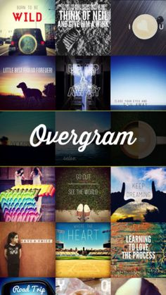 Overgram is a neat app to put text on top of images, inspire people Heaven Art, Text On Photo, Learn To Love, Best Apps, Good To Know, Typography, Social Media, Nifty, Ads