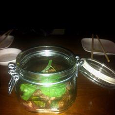 Duck in a jar at Uchi Austin, TX