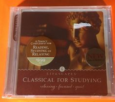 Classical For Studying LIFESCAPES RELAXING FOCUSED QUIET CD NEW FREE SHIPPING