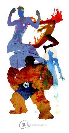 Marvel Novelization by Leigh Wortley, via Behance Ms Marvel, Marvel Comics Art, Marvel Heroes, Marvel Characters, Mundo Marvel, Captain Marvel, Fantastic Four, Mister Fantastic, Comic Book Heroes