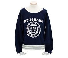BYU-Idaho University Store - BYU-Idaho Juniors Cropped Crew