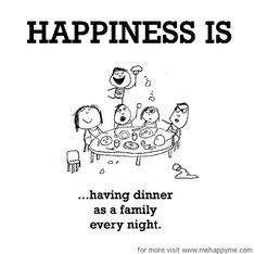 On the nights we all aren't busy! The best times and talks are around the dinner table!