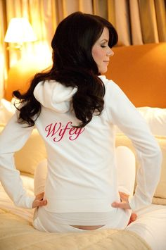 Wifey is better than bride, that way it can be worn after the wedding too! A must for a Bahamas Honeymoon!