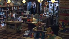 "I loved this set.  The bookstore in ""You've got Mail"".  Especially those little 'islands' and the floor."