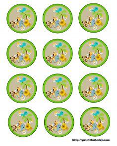 Free Safari or Jungle Theme Baby Shower Printables.  Also has giraffe, monkey, Lion and elephants!