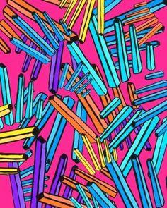 Rosie Cook Textile Designer! My own pattern reblogged from somewhere! by maryann