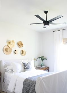 Swapped out the tiny flushmount fixture for this much needed ceiling fan.  Can't say enough wonderful things about it!  Sleek lines ✔️ Non-eye-stabbingly-ugly light kit ✔️ Amazing price ✔️ It's an all around winner .  If you haven't already, sign up for Like To Know It, and have the fan details and more delivered into your inbox: http://liketk.it/2qvE4 @liketoknow.it #liketkit #ltkhome