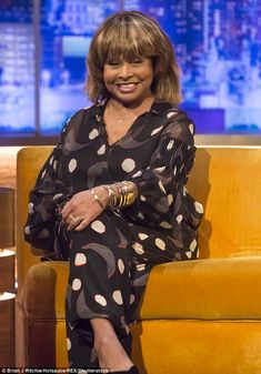 Candid: Tina Turner has dished all on her tumultuous and volatile marriage to her first husband Ike - who passed away in 2007 - on The Jonathan Ross Show, which will be aired on Saturday night White Hair Highlights, The Jonathan Ross Show, Ike And Tina Turner, Black Actors, Motown, Big Trucks, What Is Love, Mannequins, Husband