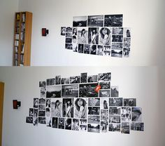 photo wall collage wall collage and photo walls on pinterest. Black Bedroom Furniture Sets. Home Design Ideas
