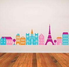 Wall Decal Kids Children Murals Paris Eiffel Tower 17 3 39 39 X 63 Via Etsy For The Home