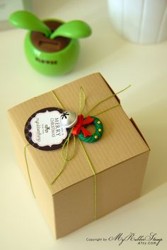 christmas packaging craft brown box