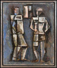 Torres-Garcia, Joaquin (1874-1949) - 1930 Two Figures (San Francisco Museum of Art, California, USA)