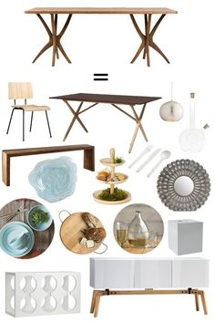 Collectible or Complete Room: Scrub Table = Organic Modern Dining Room. My dream dining table!