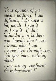 I am me