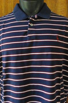 NWOT Polo Ralph Lauren Men Pima XL Moisture Management S/S Shirt Striped Multi #PoloRalphLauren #Polo