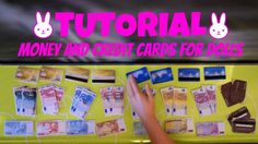 Tutorial : how to make miniature banknotes / bills & credit cards for do...