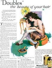 C E Chambers Mulsified Cocoanut Oil Shampoo ELECTRIC FAN Girl in Lingerie 1925