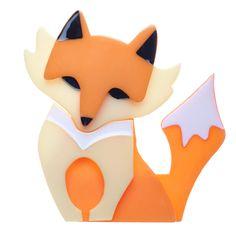 Fleur the Foxy Flame brooch. She looks so much like my cat Saffron. <3