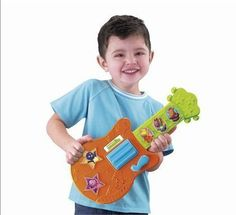 It's time to sing and play with the Backyardigans! This talking and musical toy guitar will delight your toddler as it encourages playing an. Nick Jr, Musical Toys, Beautiful Gifts, Pretend Play, Fisher Price, Little Boys, All Star, Musicals, Singing