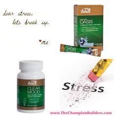 Dear stress, let's break up. #advocare #oasis #clearmood https://www.advocare.com/150360188