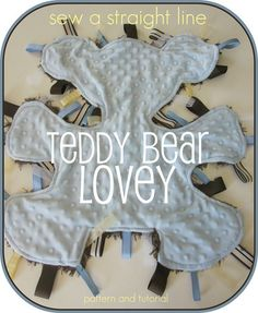 I love this cute cuddle/chew toy for a new baby.  Now what animal can I make for a little girl?