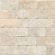 12 In X 12 In Chiaro Tumbled Natural Stone Mosaic Subway