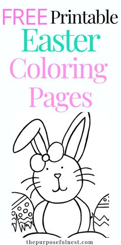 Copy of Free Printable Easter Coloring Pages Easter Activities, Easter Crafts For Kids, Craft Activities For Kids, Projects For Kids, Easter Projects, Easter Ideas, Fall Crafts, Art Projects, Easter Coloring Pages Printable