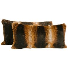Oak Lapin Fur Lumbar Pillow | From a unique collection of antique and modern pillows and throws at https://www.1stdibs.com/furniture/more-furniture-collectibles/pillows-throws/