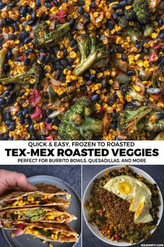 Tex-Mex Easy Roasted Vegetables: How to Bulk Roast Frozen Vegetables